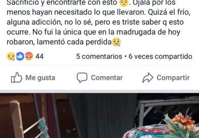 Rompen vidriera para robar, la dueña lo denunció vía redes sociales