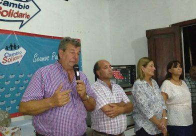 Víctor Cemborain se solidarizo con la gente de Curuzu